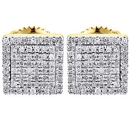 10K Yellow Gold with 0.25ct Diamond Studs Earrings