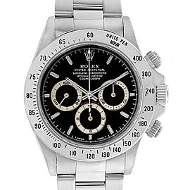Rolex Cosmograph Daytona Black Dial Zenith Movement Watch 16520