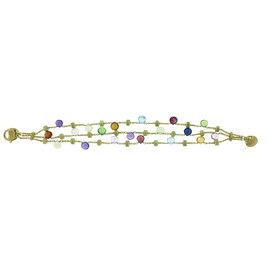 Marco Bicego Tabeez Cut Multicolored Stone 18K Yellow Gold Bracelet