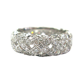 Tiffany & Co. Platinum with 2.80ct Vannerie Diamond Ring Size 6.5