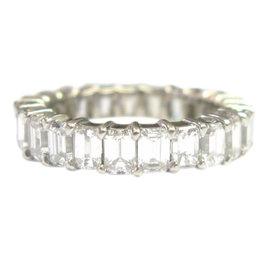 14K White Gold Emerald, Diamond Ring Size 7.5