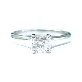 Tiffany & Co. PT950 Platinum with 0.66ct Solitaire Diamond Engagement Ring Size 5.5