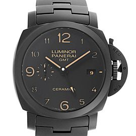 Panerai Luminor 1950 3 Days Tuttonero GMT Ceramic Mens Watch PAM00438