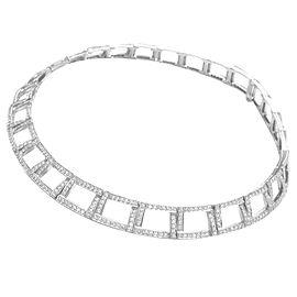 Tiffany & Co Platinum Open Square Diamond Necklace