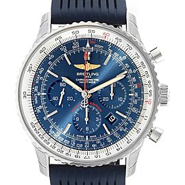 Breitling Navitimer 01 46 Blue Dial Rubber Strap Watch AB0127 Unworn
