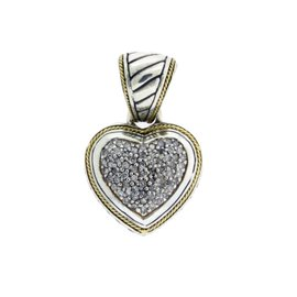 EFFY Sterling Silver & 18K Yellow Gold Diamond Pendant