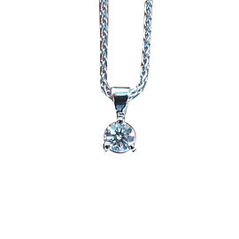 Hearts On Fire Round .33Ct Diamond Solitaire 3-Prong Pendant H-VS2 Necklace