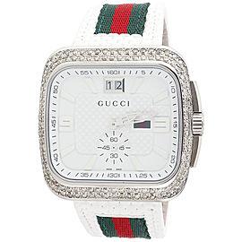 Gucci YA131303 Stainless Steel Quartz 40mm Mens Watch