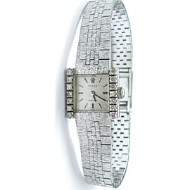 Vintage Rolex Diamond 18K White Gold Watch