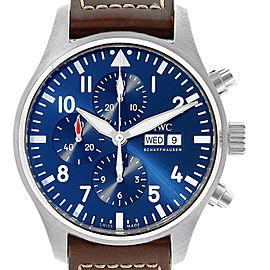 IWC Pilot Le Petit Prince Blue Dial Chronograph Mens Watch IW377714