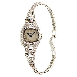Waltham Platinum & Diamonds Ladies Vintage Watch