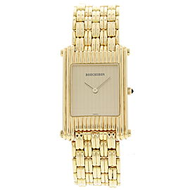 Boucheron A256 / 2174 18K Yellow Gold Reflet Vintage Men's Watch