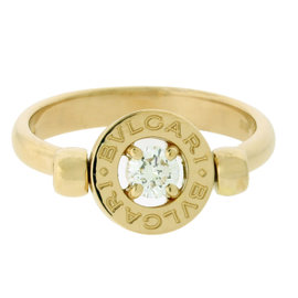 Bvlgari Flip 18K Yellow Gold Ring With Diamond.