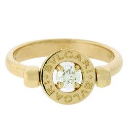 Bvlgari Flip 18K Yellow Gold Ring With Diamond.