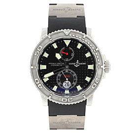Ulysse Nardin 263-33 Maxi Marine Diver Chronometer 1846 Rubber Strap Mens Watch