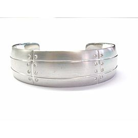 Tiffany & Co.18K White Gold Streamerica Diamond Bangle Cuff