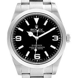 Rolex Explorer I 39mm Black Dial Steel Mens Watch 214270 Box Card