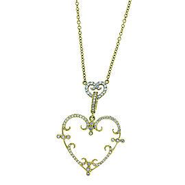 Rhonda Faber Green 18K Yellow Gold Medium Heart Diamond Necklace