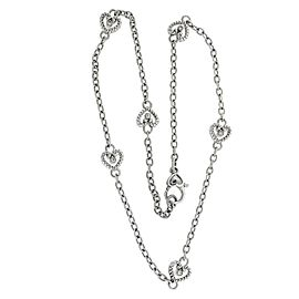 Judith Ripka Reversible CZ necklace in sterling silver 18 inches long.