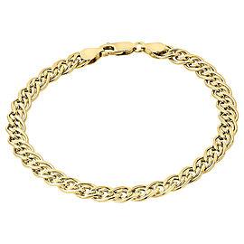 10K Yellow Gold Double Cuban Curb Italian Link Bracelet