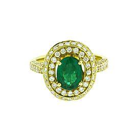 Chantecler Capri 18K Yellow Gold Emerald & Diamond Ring