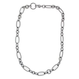 Judith Ripka Sterling Silver Heavy Chain