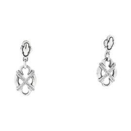 Scott Kay Diamond Sterling Silver Dangle Earrings