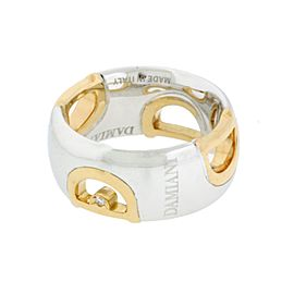 Damiani 18K Rose & White gold D Icon Ring