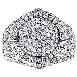 10K White Gold with 4.75ct Diamond Band Ring Size 10