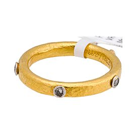 Gurhan 24K Yellow Gold Hoopla Diamond 5 Diamond Ring
