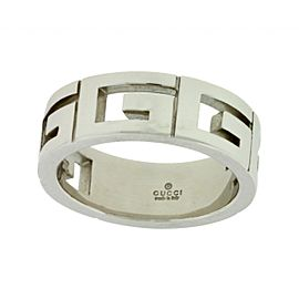 Gucci 18K White Gold G Ring Band