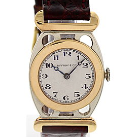 Tiffany & Co 18K White & Yellow Gold Vintage Womens Watch