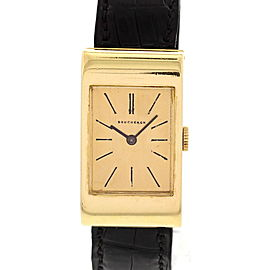 Boucheron BT908-247 18K Yellow Gold & Leather Manual Vintage 20mm Womens Watch