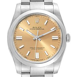 Rolex Oyster Perpetual 36 White Grape Dial Mens Watch 116000