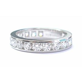Tiffany & Co. Platinum & 1.8ct Diamond Eternity Band Ring Sz 5