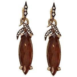 Stephen Webster 18K Yellow Gold Diamond & Quartz Carnelian Fly By Night Drop Earrings