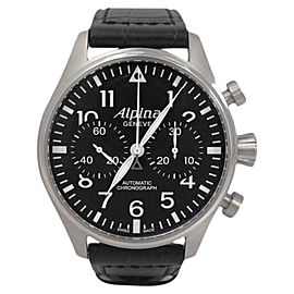 Alpina Geneve Al860x4sp6 Stainless Steel Star Timer Pilot Chronograph Mens Watch