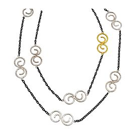 Gurhan Vortex Yellow Gold & Sterling Silver Tri Tonal Necklace