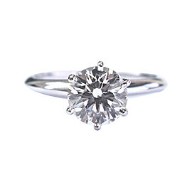 Tiffany & Co. 950 Platinum Round Diamond Solitaire Ring
