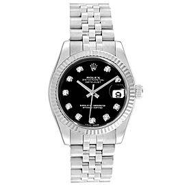 Rolex Datejust Midsize 31 Steel White Gold Diamond Ladies Watch 178274