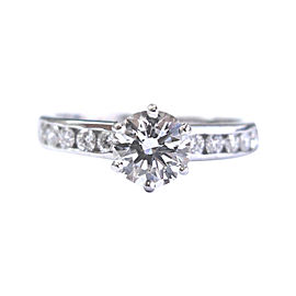Tiffany & Co. Platinum 1.39 Ct Diamond Channel Set Engagement Ring Size 7.5