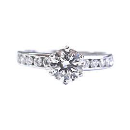 Tiffany & Co. Platinum 1.39 Ct Diamond Channel Set Engagement Ring Size 7.5