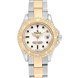 Rolex Yachtmaster 29 Steel Yellow Gold White Dial Ladies Watch 169623
