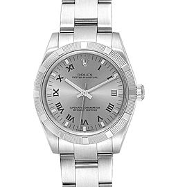 Rolex Midsize 31 Silver Rhodium Dial Steel Ladies Watch 177210