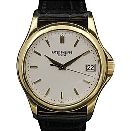 Patek Philippe Calatrava 5127J 18K Yellow Gold Silver Dial 37mm Unisex Watch