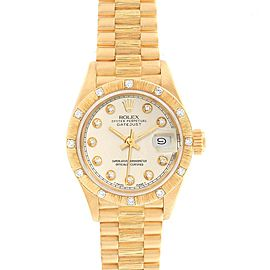 Rolex President Datejust 26mm Yellow Gold Diamond Ladies Watch 69288