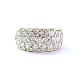 Yellow Gold Diamond Womens Ring Size 5.5