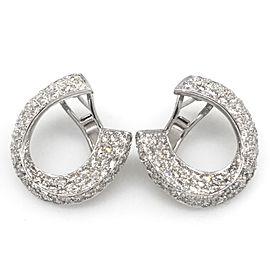 18K White Gold 5.50ctw Diamond Crescent Earrings