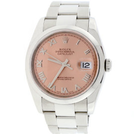Rolex Datejust 116200 Stainless Steel & Salmon Dial Automatic 36mm Unisex Watch