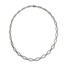 Gregg Ruth 18K White Gold 2.15 Ct Diamond Necklace